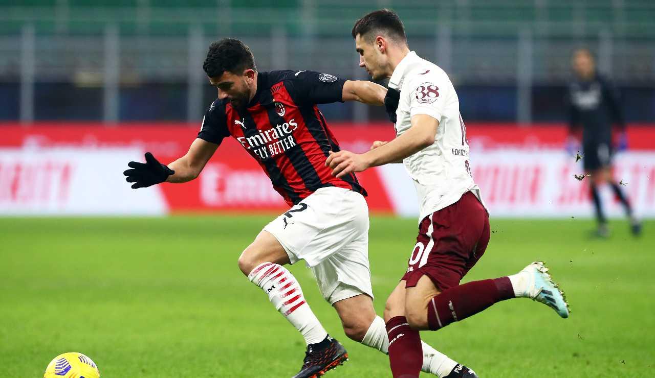 Musacchio in azione contro il Torino
