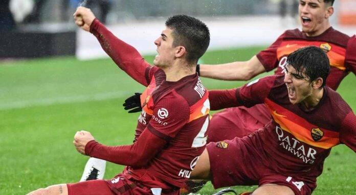 roma - inter mancini gol risultato cronaca