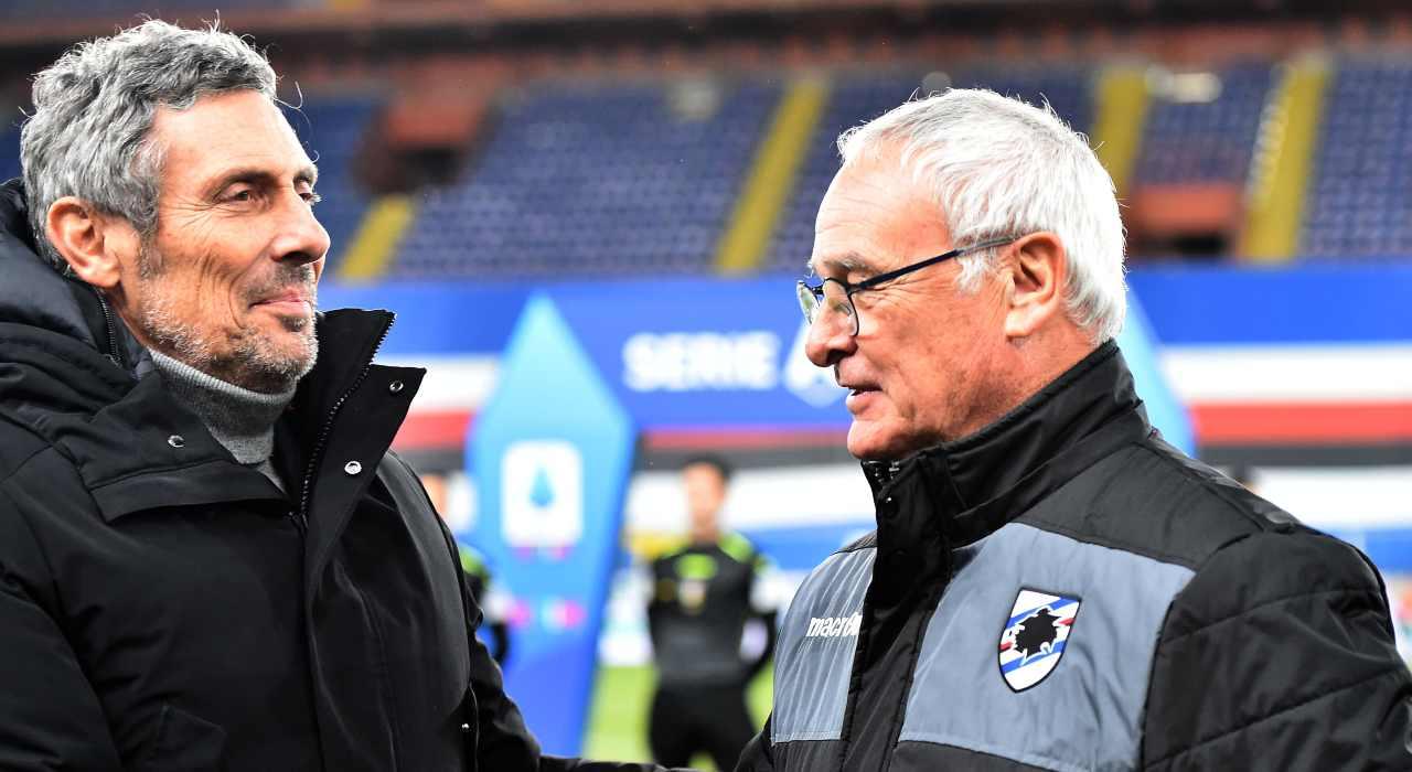 sampdoria - udinese sintesi risultato serie a ranieri gotti