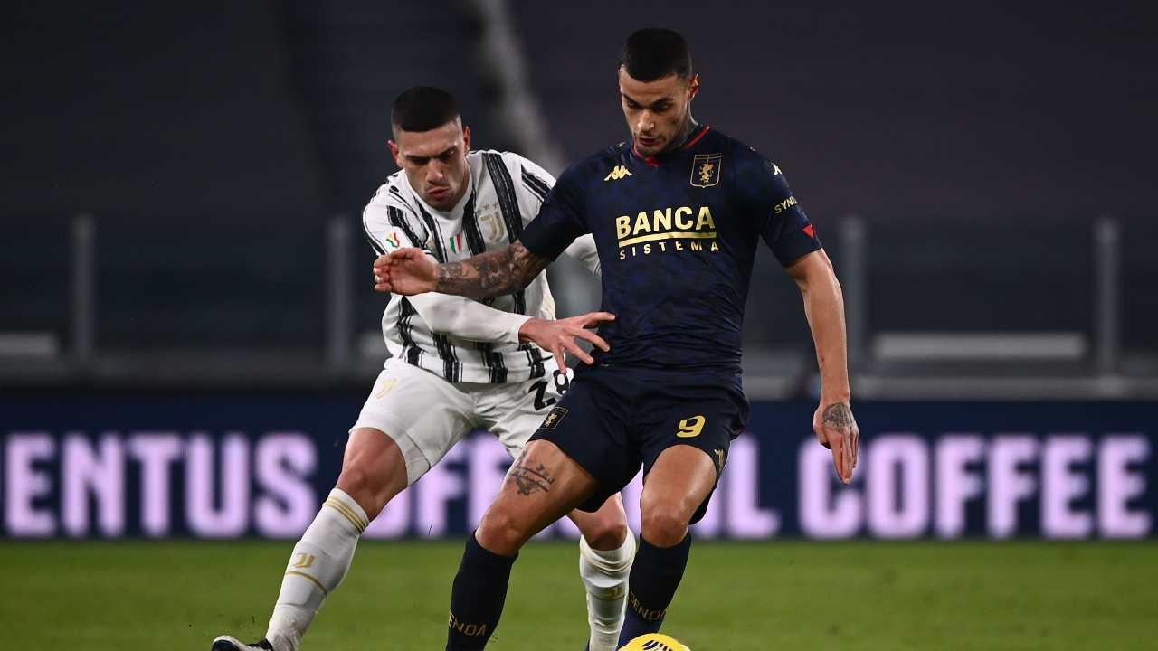 Scamacca contro la Juventus
