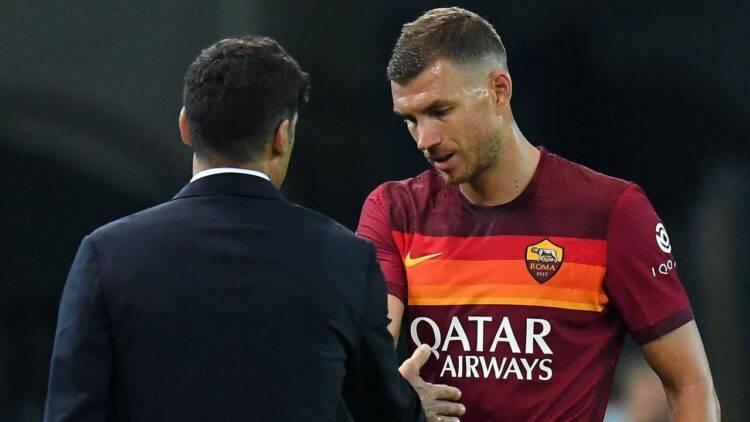 Roma incontro Dzeko Fonseca