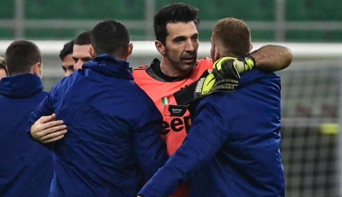 buffon abbraccio