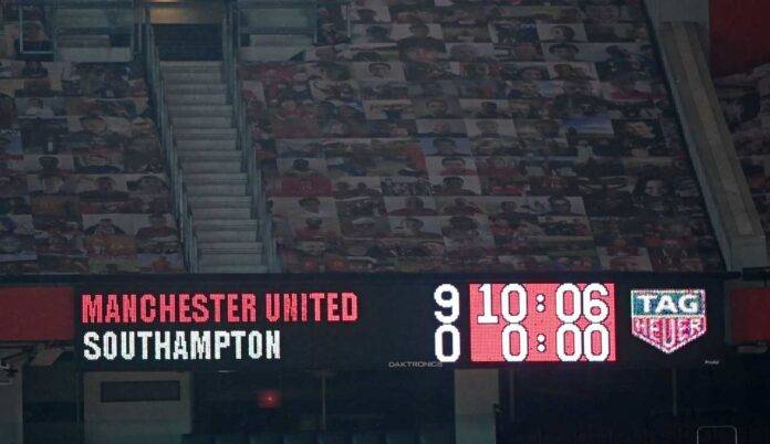 old trafford tabellone