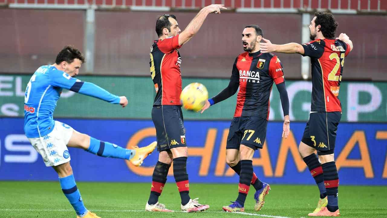 Il Genoa esulta al gol