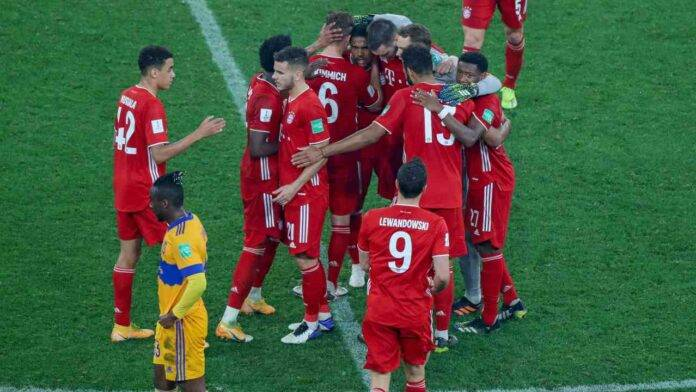 Il Bayern Monaco festeggia