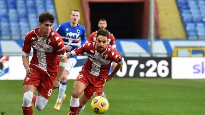 Fiorentina e Sampdoria in campo