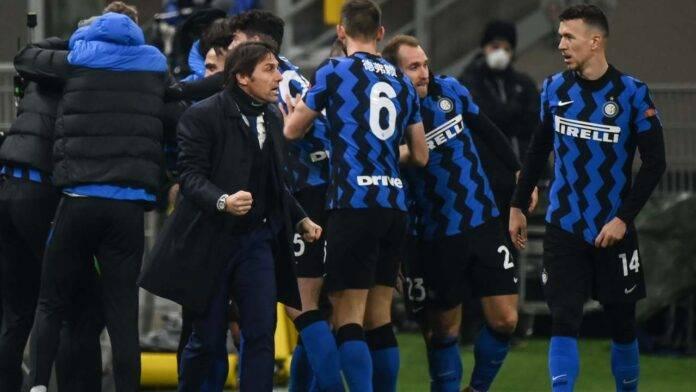 Conte e l'Inter festeggiano