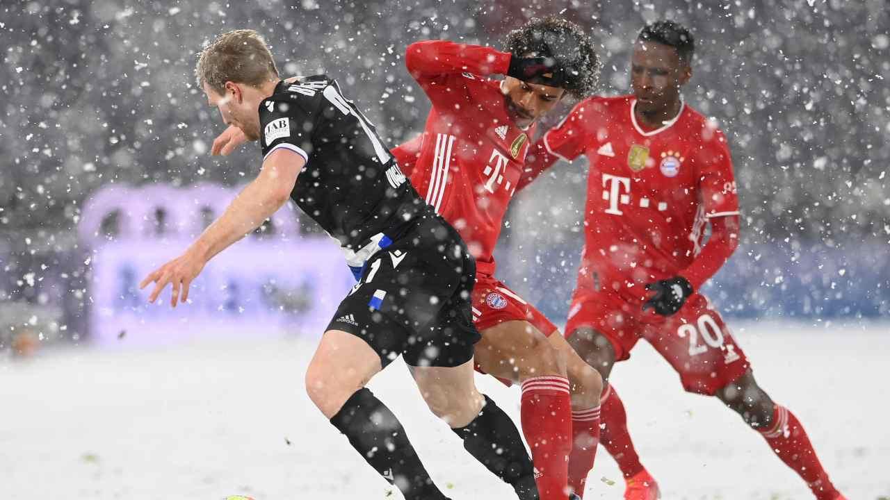 Bayern Monaco ed Arminia in azione