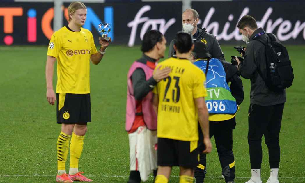 Haaland in campo in Champions League