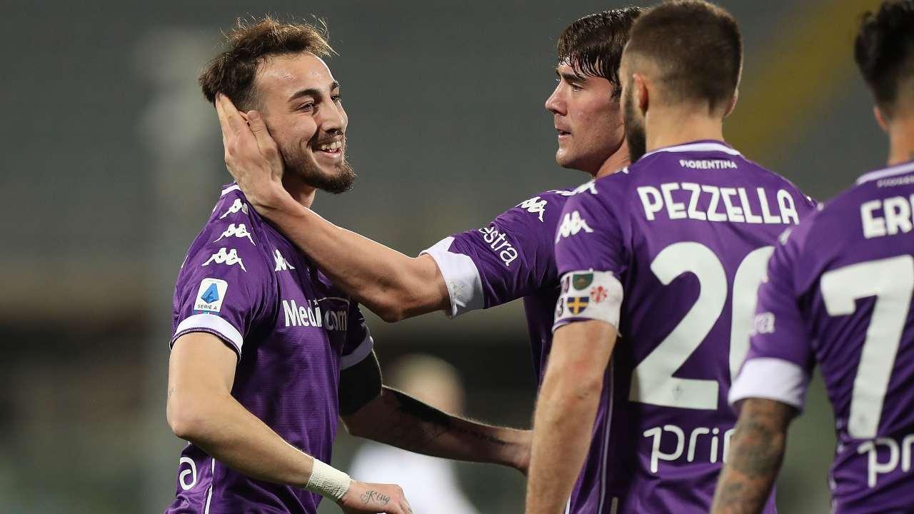 La Fiorentina esulta contro lo Spezia
