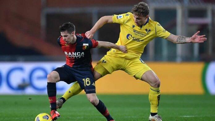 Genoa-Verona in campo