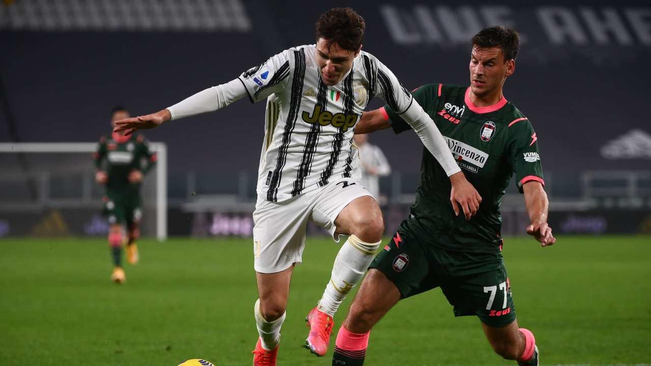 Juventus e Crotone in campo