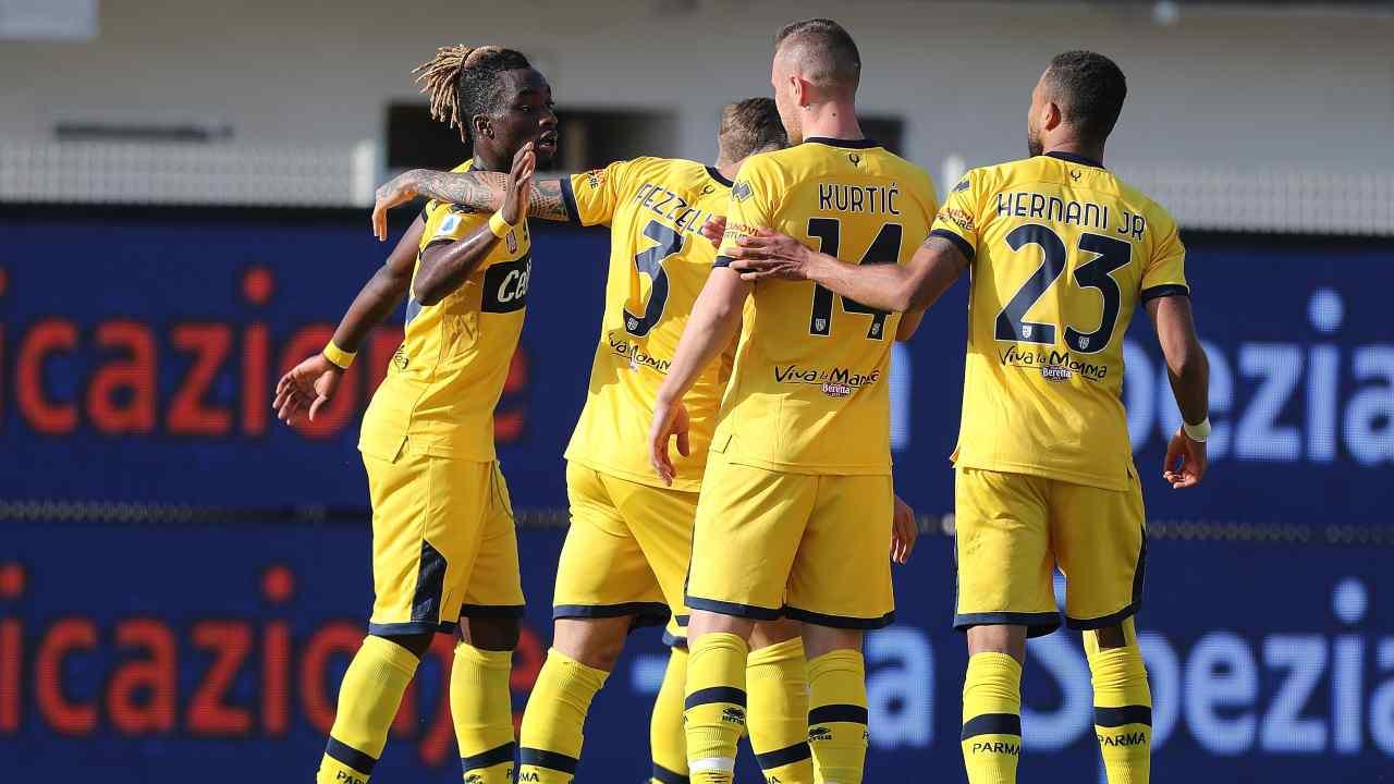 Il Parma esulta