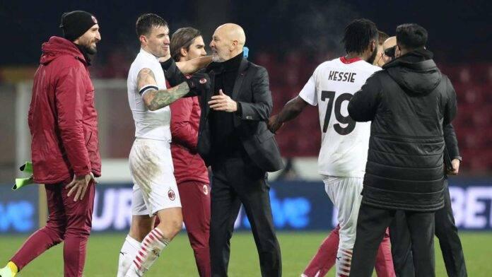 Milan di Pioli a fine partita