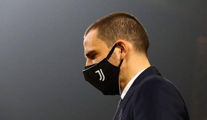 leonardo bonucci con la mascherina