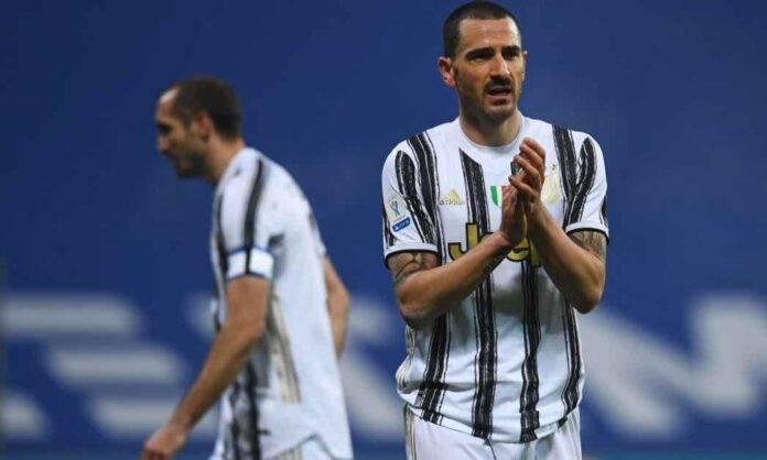 Bonucci in campo con la Juventus