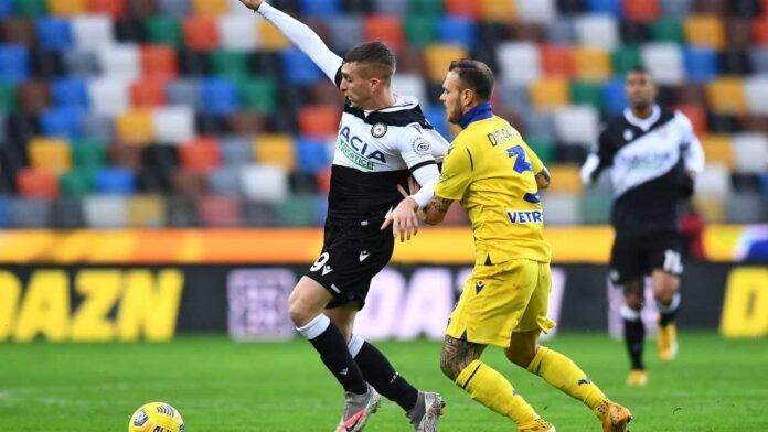Udinese e Verona in campo