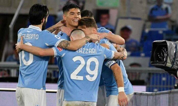 Lazio Cagliari esultanza