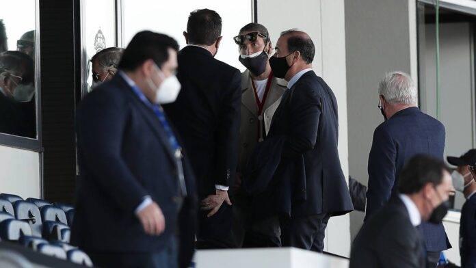 Sergio Ramos in tribuna