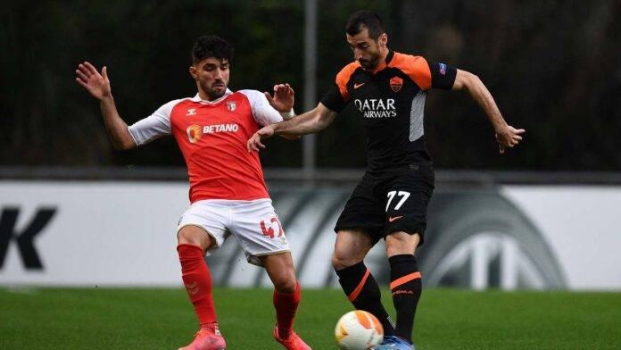 Sporting Braga-Roma in azione