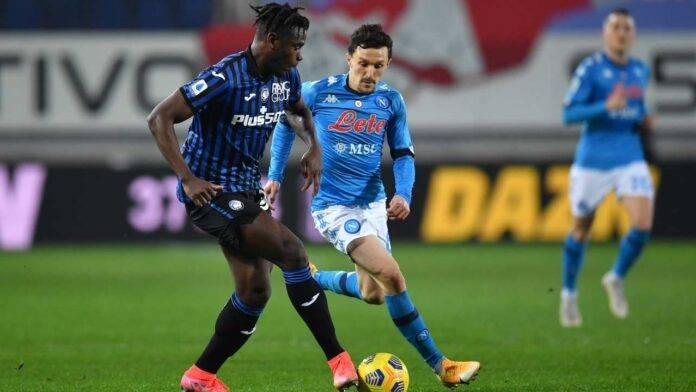 Atalanta e Napoli in campo