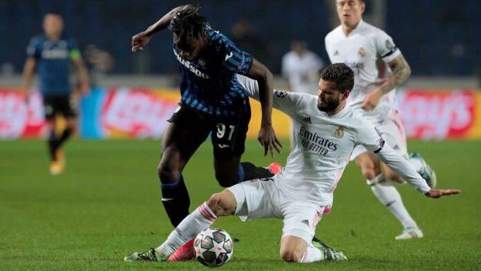 Atalanta e Real Madrid in azione
