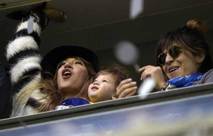 Giannina Maradona in tribuna