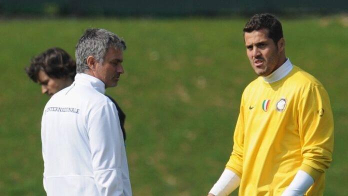 Julio Cesar e Mourinho