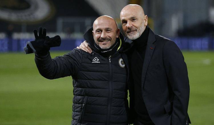 Vincenzo Italiano e Stefano Pioli in posa