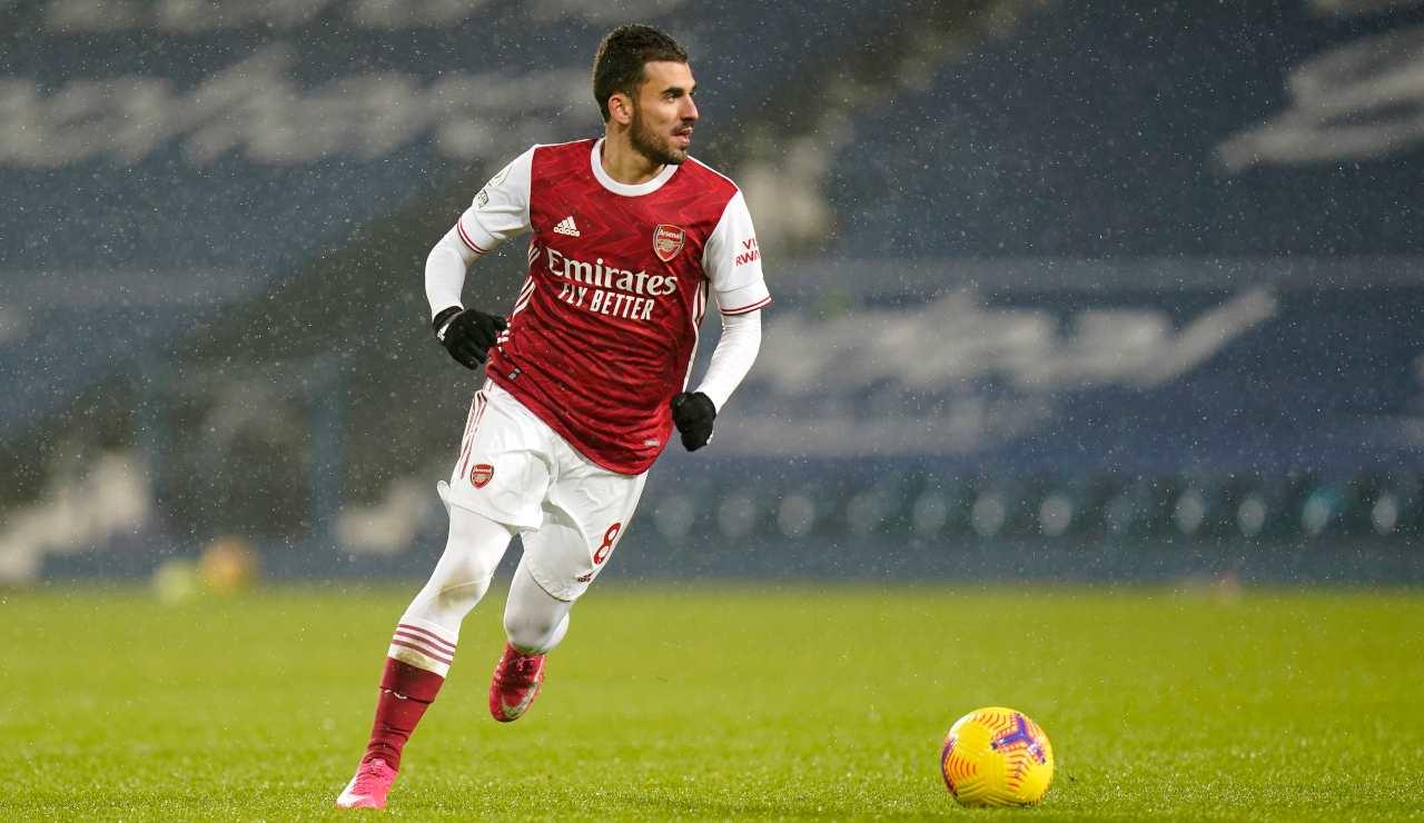Dani Ceballos in azione con la maglia dell'Arsenal