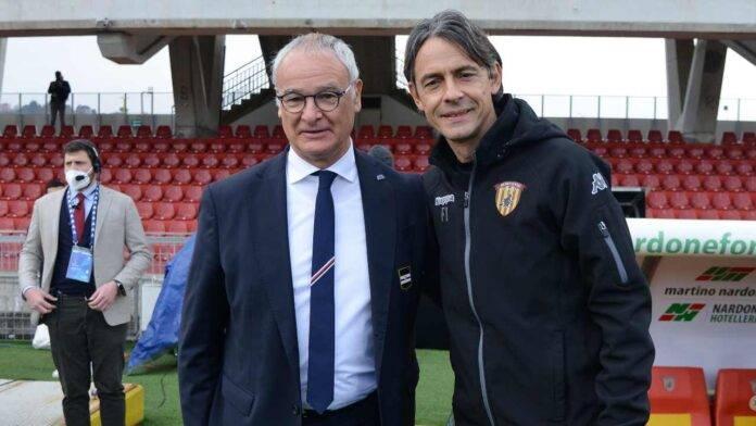 Ranieri e Inzaghi a bordo campo