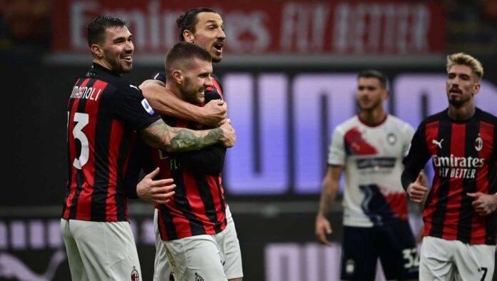 Serie A, Rebic e Ibrahimovic esultano