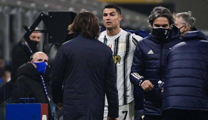 Ronaldo e Pirlo in panchina