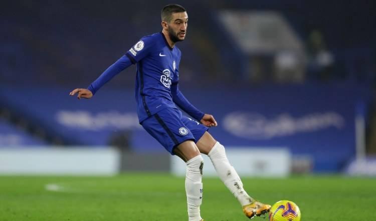 Ziyech in azione con la maglia del Chelsea