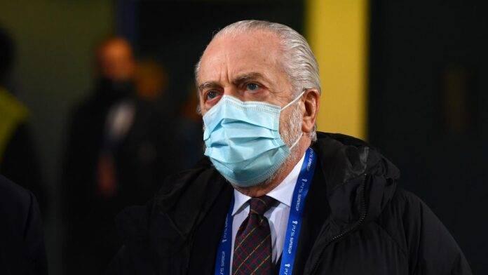 Aurelio De Laurentiis con la mascherin
