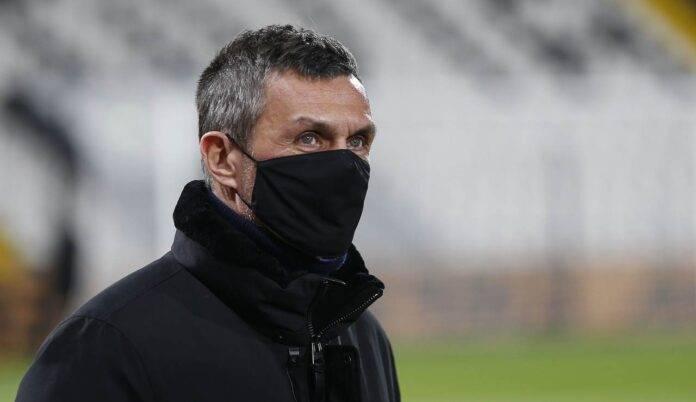 Paolo Maldini con la mascherina
