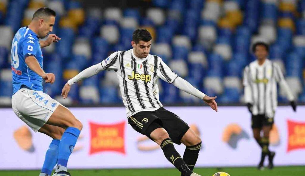 Alvaro Morata in Napoli-Juventus