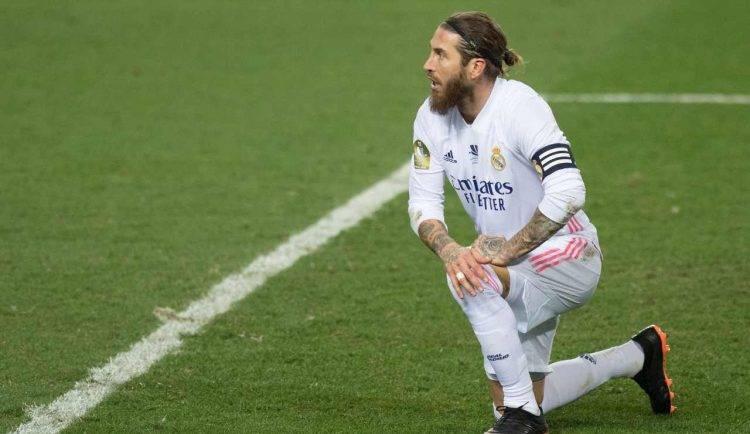 Sergio Ramos in ginocchio