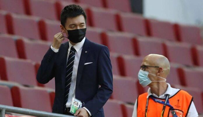 Steven Zhang sugli spalti