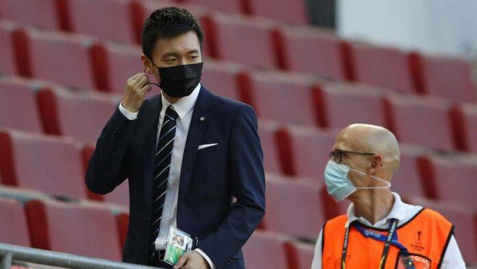 Inter Steven Zhang in tribuna