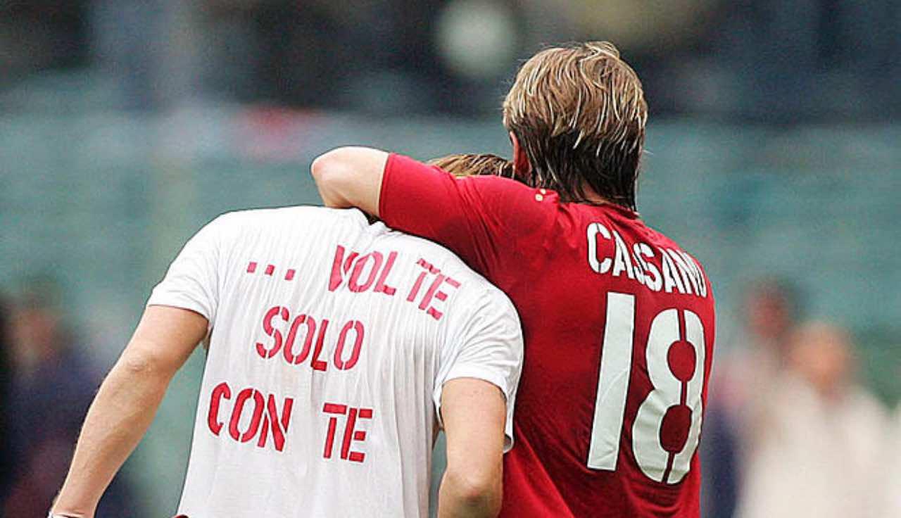 Cassano e Totti
