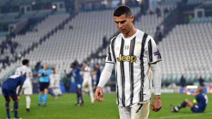 Cristiano Ronaldo arrabbiato