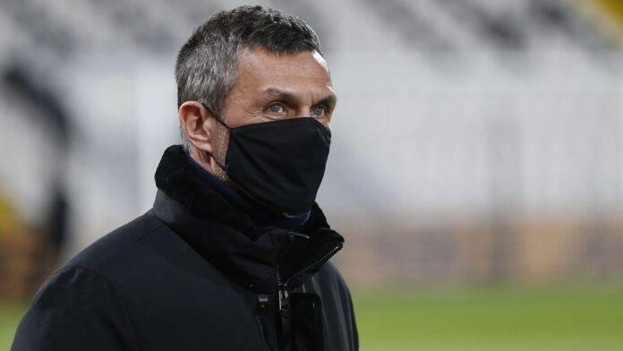 Paolo Maldini in campo