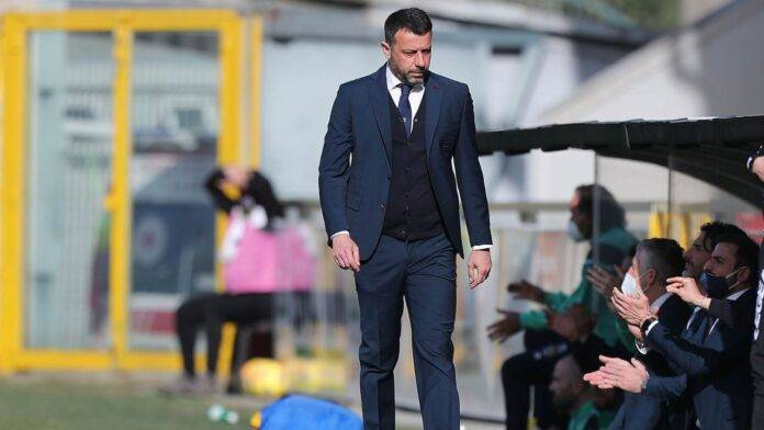 Roberto D'Aversa in panchina