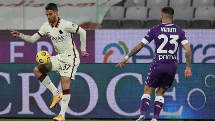 Fiorentina e Roma in campo