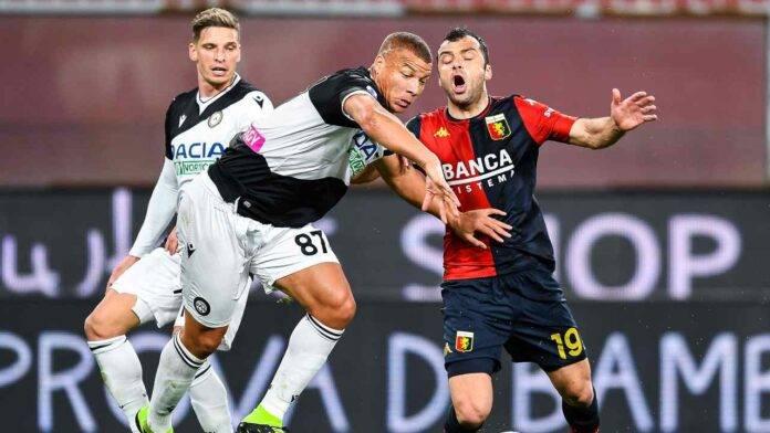 Genoa e Udinese in azione