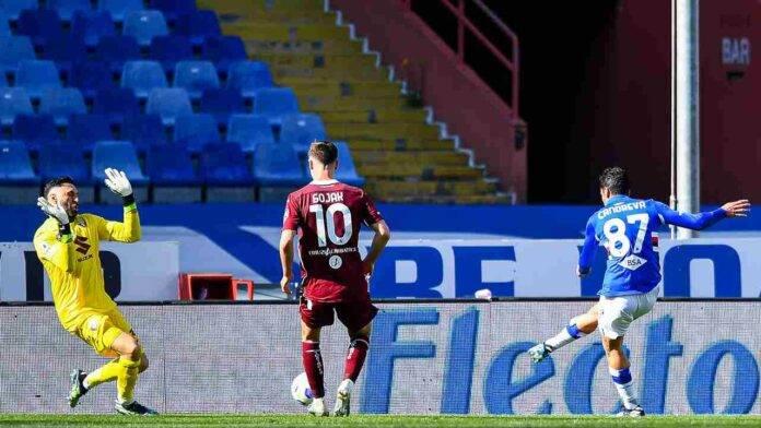 Sampdoria e Torino in campo