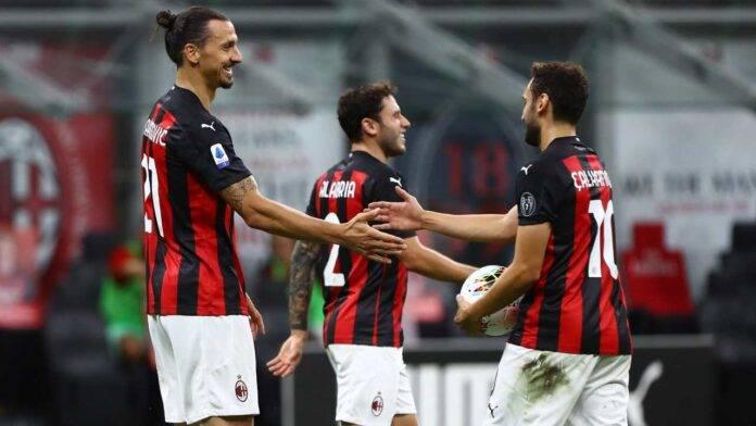 Ibrahimovic, Calhanoglu e Calabria in campo