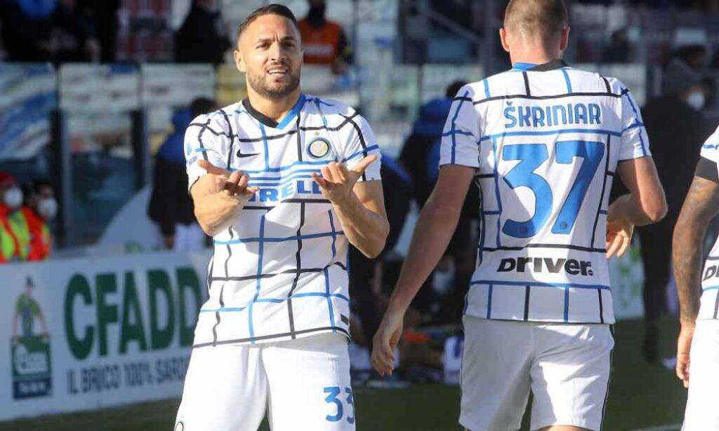 D'Ambrosio in campo con l'Inter