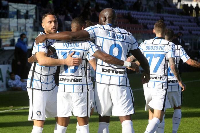 Inter esultanza a Cagliari